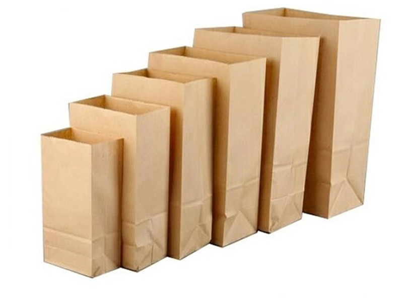 Kraft Paper Bags Brown Paper Food Gift Bags Sandwich Bread Dried Fruits Cookie Baking Candy Handmade Soap Packing Take Out Bags