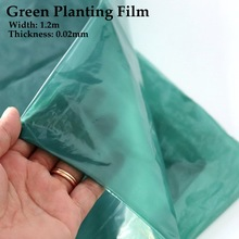 5~50m Width:1.2m Green Planting Mulch Film Vegetable Ginger Grow Film Garden Greenhouse Agriculture Film Plants Sheeting Cover 52in mulch kit for everride 99241000