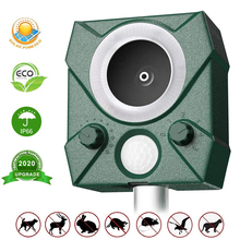 Ultrasonic Animal Pest Repeller Solar Powered Infrared Sensor Pests Animals Bird Possum Waterproof Deterrent Scarer Machine