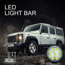 цена на Work LED Light Bar 27W 42W 48W Car Light Bright Beam 6000k Led For Jeep ATV UAZ SUV 4WD 4x4 Truck Tractor Off-road Spot Light