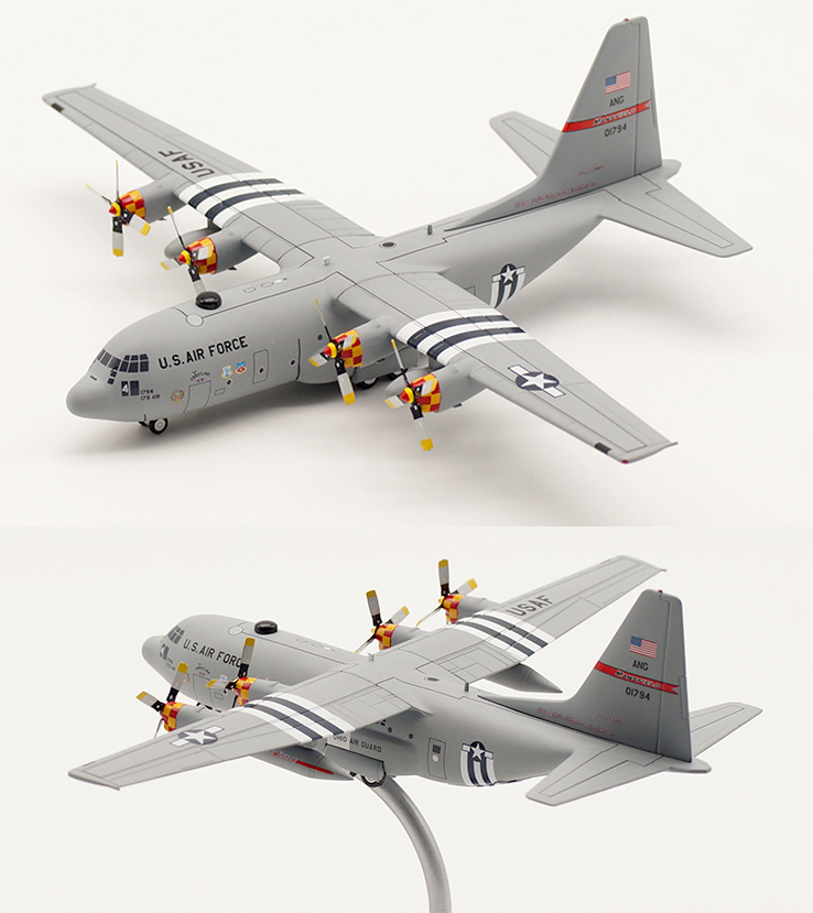 Fine  1 / 200 Finished Air Force C-130H Transport Model  Alloy Collection Model