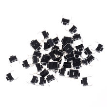 30pcs 3*6*4.3 mm 2 Pin DIP Light Touch Keys Keyboard Panel PCB Momentary Tactile Tact Push Button Micro Switch(China)
