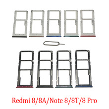 Phone SIM SD Card Trays For Xiaomi Redmi 8 8A Note 8 Por 8T Original Phone SIM Chip Card Slot Holder Drawer Part + Pin