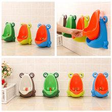 Sapo de plástico bebê meninos crianças xixi potty toalete treinamento crianças banheiro mictório navio da gota