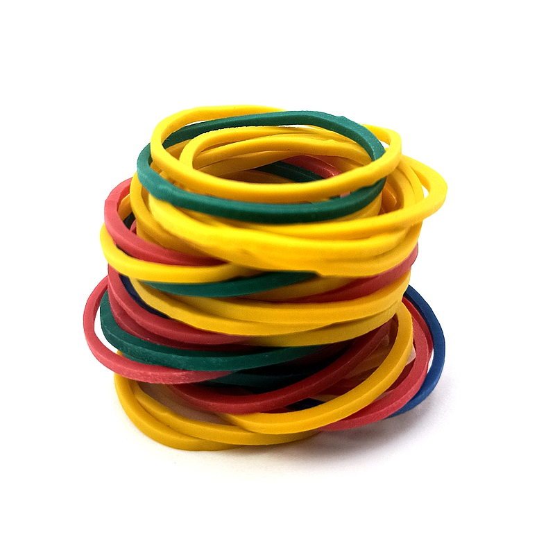300Pcs/Bag 26MM Diameter Stationery Office Holder Colorful Band Good Elasticity Tape Rubber Band