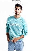 SIMWOOD 2020 wiosna nowe bluzy mężczyzn 100% bawełna zgrywanie szczegóły rocznika wysokiej jakości list Plus Size z kapturem 190083