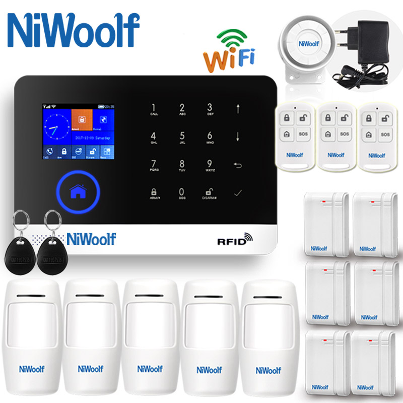 2019 APP WIFI + GSM Home Burglar Alarm System Touch Keyboard  English Russian Spanish German Polish Italian French Portuguese