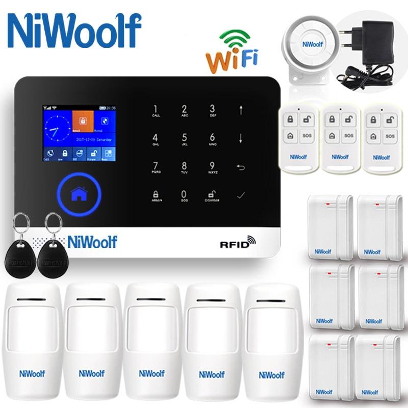 2019 APP WIFI + GSM Home Burglar Alarm System Touch Keyboard  English Russian Spanish German Polish Italian French Portuguese
