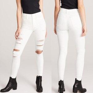 JAYCOSIN Baumwolle Weiß Jeans Für Frauen Hohe Taille Harem Mom Jeans Frühling 2019 Neue Plus Größe Frauen Jeans Denim Hosen abrade731 #2