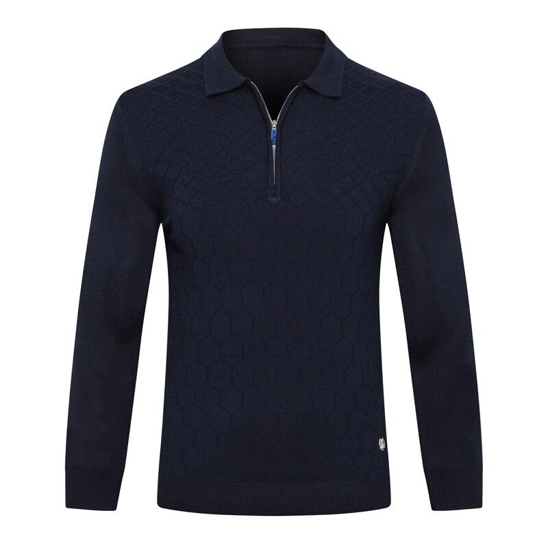 Miliarder sweter z wełny męska 2019 nowa moda na zamek błyskawiczny komfort drukowanie zaprojektowane wysokiej jakości gentleman duży M 5XL darmowa wysyłka w Pulowery od Odzież męska na  Grupa 2