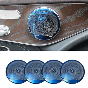 Image 2 - 4 adet araba hoparlörü kapak trim çıkartmalar Mercedes Benz için W213 W205 GLC AMG E C sınıfı serisi kapı Tweeter süslemeleri çıkartmalar