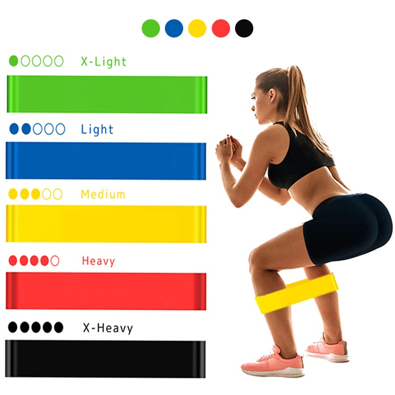 Yoga Resistance Rubber Bands For Fitness 5 Level Workout Elastic Bands Expander Pilates Sports Training Crossfit Gym Equipment