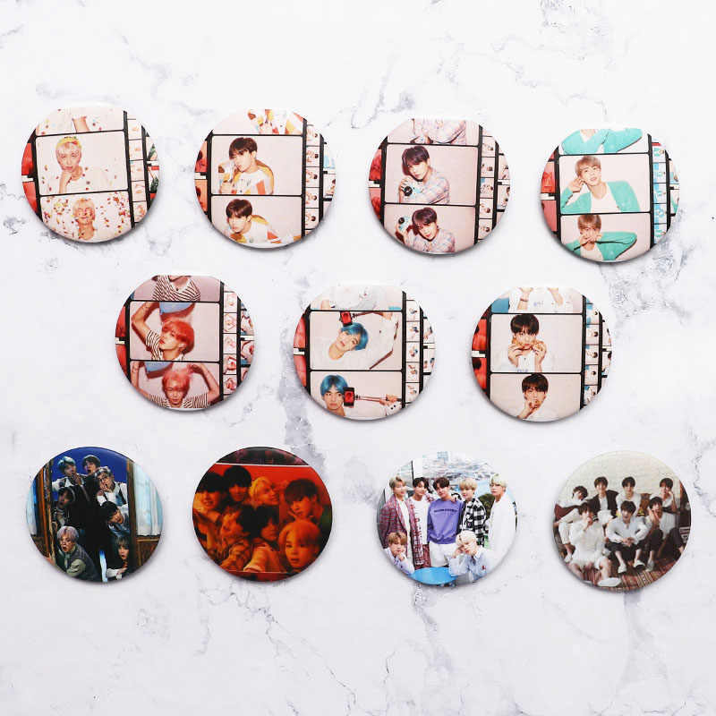 Bangtan Kpop Boys Album Brooch Pin Badge Clothes Hat Accessories Backpack Decoration 1pcs Customizable Brooch Custom Pins