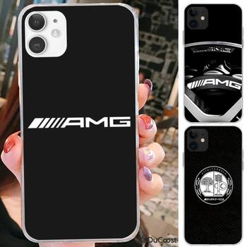 Luxury Mercedes Benz AMG Car Phone Case For iPhone 7 8 Plus X XS Max XR Coque Case For iphone 5s SE 2020 6 6s 11Pro image