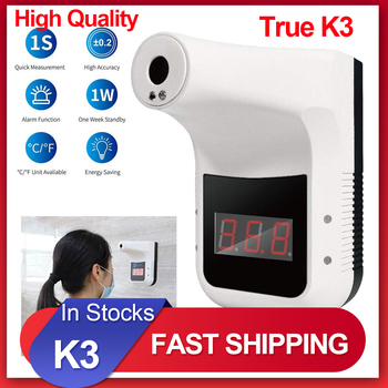 Nowy K3 bezdotykowy termometr na podczerwień cyfrowy K3 Pro czoło ręczny czujnik temperatury pistolet laserowy z gorączką Alarm ścienny tanie i dobre opinie TTAKA7 NONE CN (pochodzenie) Infrared Temperature DIGITAL Gospodarstwo domowe Bateria AAA 1 9 Cali i Pod