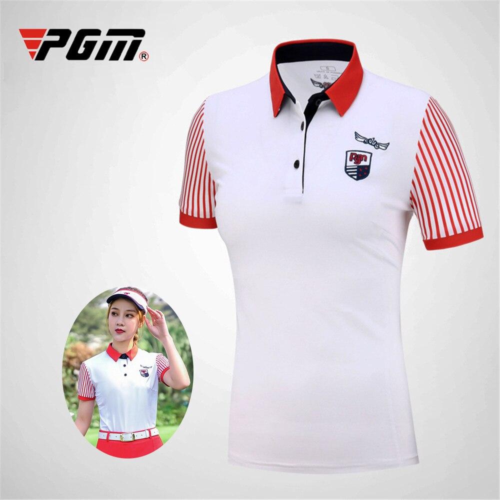 PGM Golf T Shirts Womens Short Sleeve Tops Sportswear Summer Golf T-Shirt Ladies Breathable Shirt T-Shirt Golf Clothing Apparel