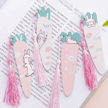 1pcs/lot Cartoon Carrot Rabbit Tassel Pendant Ruler Wooden Straight DIY Tools Nice Gift Prize Stationery
