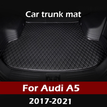 MIDOON רכב תא מטען מחצלת לאאודי A5 סדאן 2017 2018 2019 2020 2021 מטענים ריפוד שטיח פנים אביזרי כיסוי