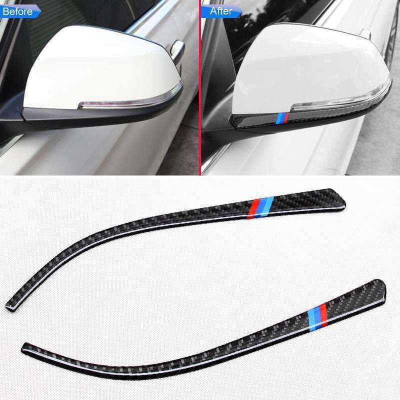 <font><b>Car</b></font> Side Exterior Mirror Carbon Fiber <font><b>Stripe</b></font> Trim For <font><b>BMW</b></font> 3/4 F30/F34/F32/F36 UK image