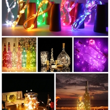 Wine-Bottle-Lights Copper-Wire Cork-Shape Wedding 20leds Mini Outdoor 2M for Colorful
