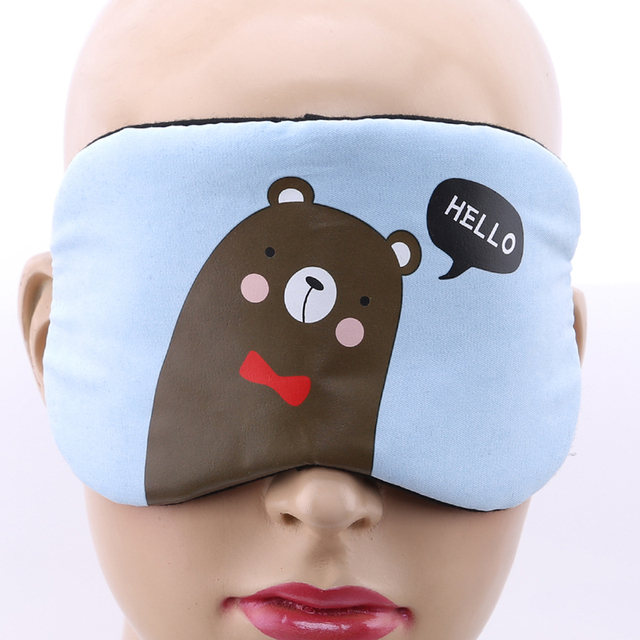 1PC New Fashion Portable Cute Sleeping Eye Mask Korean Style Soft Padded Sleep Travel Shade Cover Rest Relax Sleeping Blindfold 3