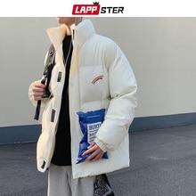 Jackets Coats Parka Rainbow LAPPSTER Korean Streetwear Warm Thick Men Winter Male Hip-Hop