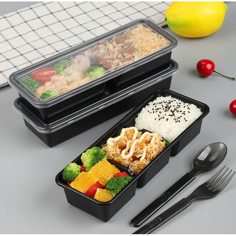 25 pièces compartiment jetable petite boîte à déjeuner affaires mini boîte à déjeuner fruits pêche lumière nourriture fitness repas salade boîtes à emporter - 5