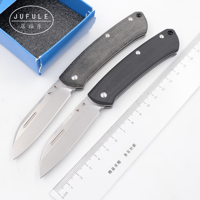 JUFULE Made 319 micarta / G10 handle Mark s30v blade camping hunt Outdoor pocket fruit EDC tool Utility Gentleman folding <font><b>knife</b></font> image
