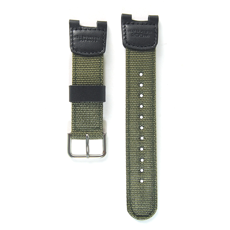 Nylon Watchband Women Men Black Sport Diving Watch Band Strap With Stainless Steel For SGW-100  Samrt  Watch
