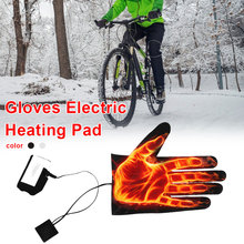 Gloves Heating Pad Lightweight Five-finger Heating Pads DC Power Supply with 3-level Thermostat Switch USB/DC interface Shipping
