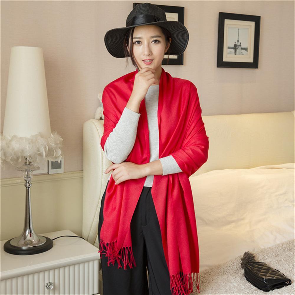 2019 women   scarf   fashion summer thin solid shawls and   wraps   lady pashmina bandana female hijab winter long foulard head   scarves