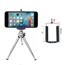 Mini Aluminum Tripod Stabilizer With 360°Fluid Head Foldable Camera Holder Stand for All iPhone Clip
