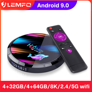 LEMFO TV Box H96 Max X3 2020 Android 9.0 8K 1000M 2.4G/5G WIFi Online Movie Amlogic S905X3 4G Ram 64G Rom H96Max x3 Set Top Box
