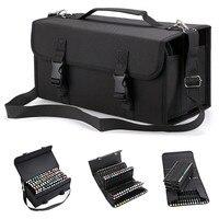Novo portátil mochila grande-capacidade caneta marcador caso caneta saco de pintura saco portátil caixa de armazenamento 120 buracos