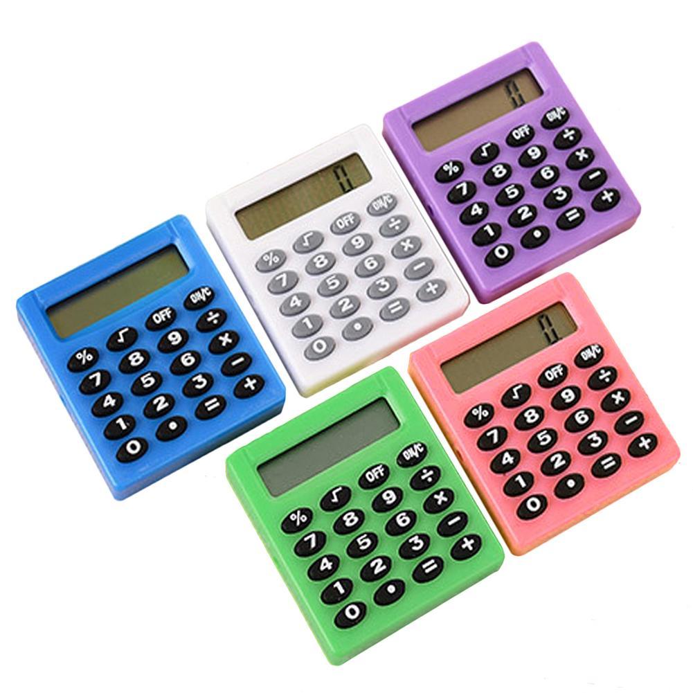 Канцелярские принадлежности, маленький квадратный калькулятор, персонализированный мини-калькулятор карамельных цветов для школы и офиса...