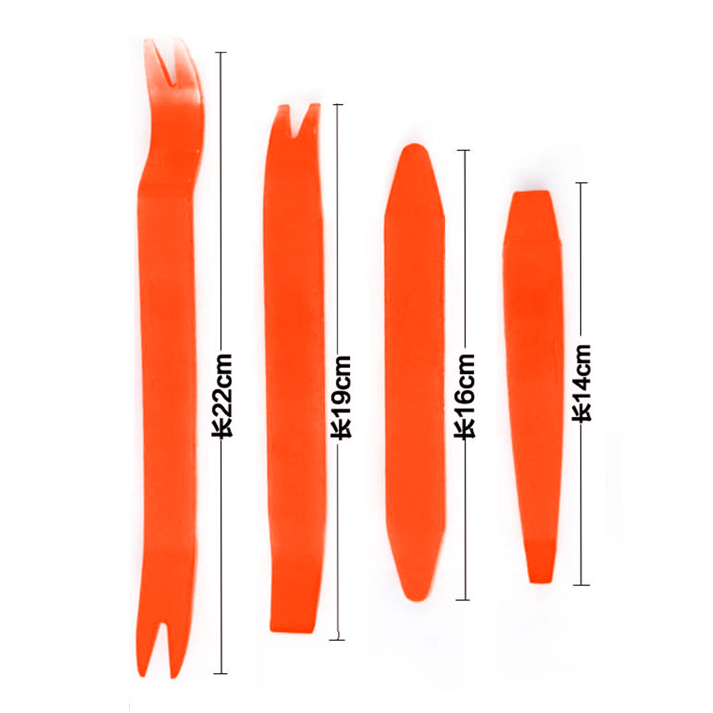 Car Audio Pry Tool Set 4Pcs No Scratch Universal Trim Dash Portable Hand Tools Audio Removal Installer Plastic Accessories