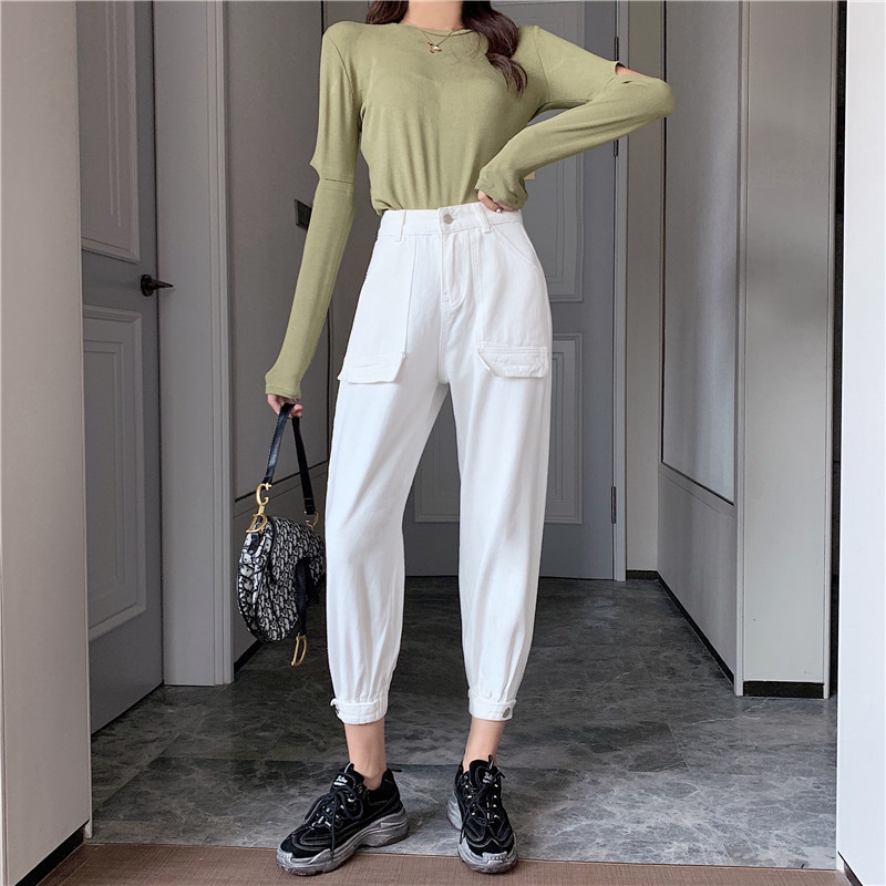 Woman Jeans High Waist Clothes White Wide Leg Denim Clothing Streetwear Vintage 2020 Spring Summer Fashion Harajuku Loose Pants