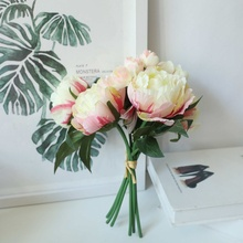 Peony Bunch INS Household Simulation Flower  Wind Home Decoration Wedding  Flower Artificial Flowers Home Decoration artificial fog smog artificial flower wedding decoration wind simulation artificial wall