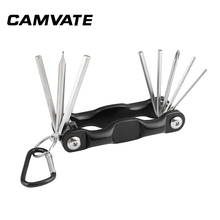 CAMVATE Multi purpose 8 in 1 Allen Wrench Hex Key Set Screwdriver Tool Kit Foldable Portable photography Accessories Assembly