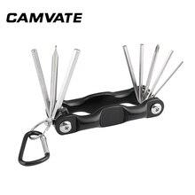 CAMVATE çok amaçlı 8 in 1 Allen anahtarı alyan anahtarı takımı tornavida takım çantası katlanabilir taşınabilir fotoğraf aksesuarları meclisi