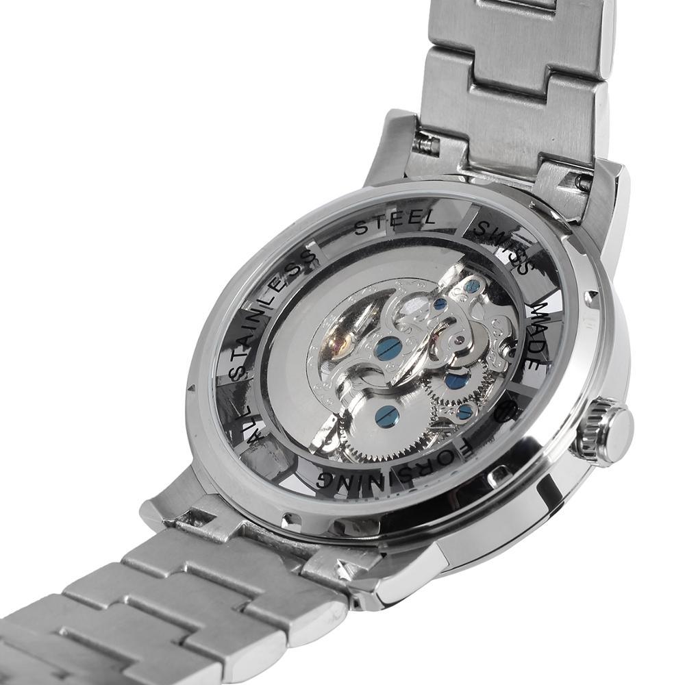 Forsining Nieuwe Mode Mannen Mechanische Automatische Horloge Jurk Horloges Voor mannen Gift Klok Mannelijke Reloj Hombre Relogio Masculino - 4