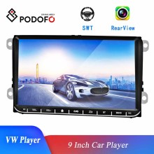 Podofo 9 ''pollici autoradio Mirror Link Touch Screen Multimedia MP5 Player per VW/Volkswagen/Golf/Passat/b7/b6/Skoda/Seat