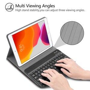 Image 5 - Bluetoothキーボードipad 7th世代 (2019)/新型ipad 8th世代 (2020) 10.2インチ 着脱式のbluetoothキーボード保護ケース