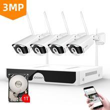 Jooan 8ch sistema de cctv sem fio 1536p nvr wifi IR CUT ao ar livre 3mp ip cctv câmera segurança sistema vigilância vídeo kit