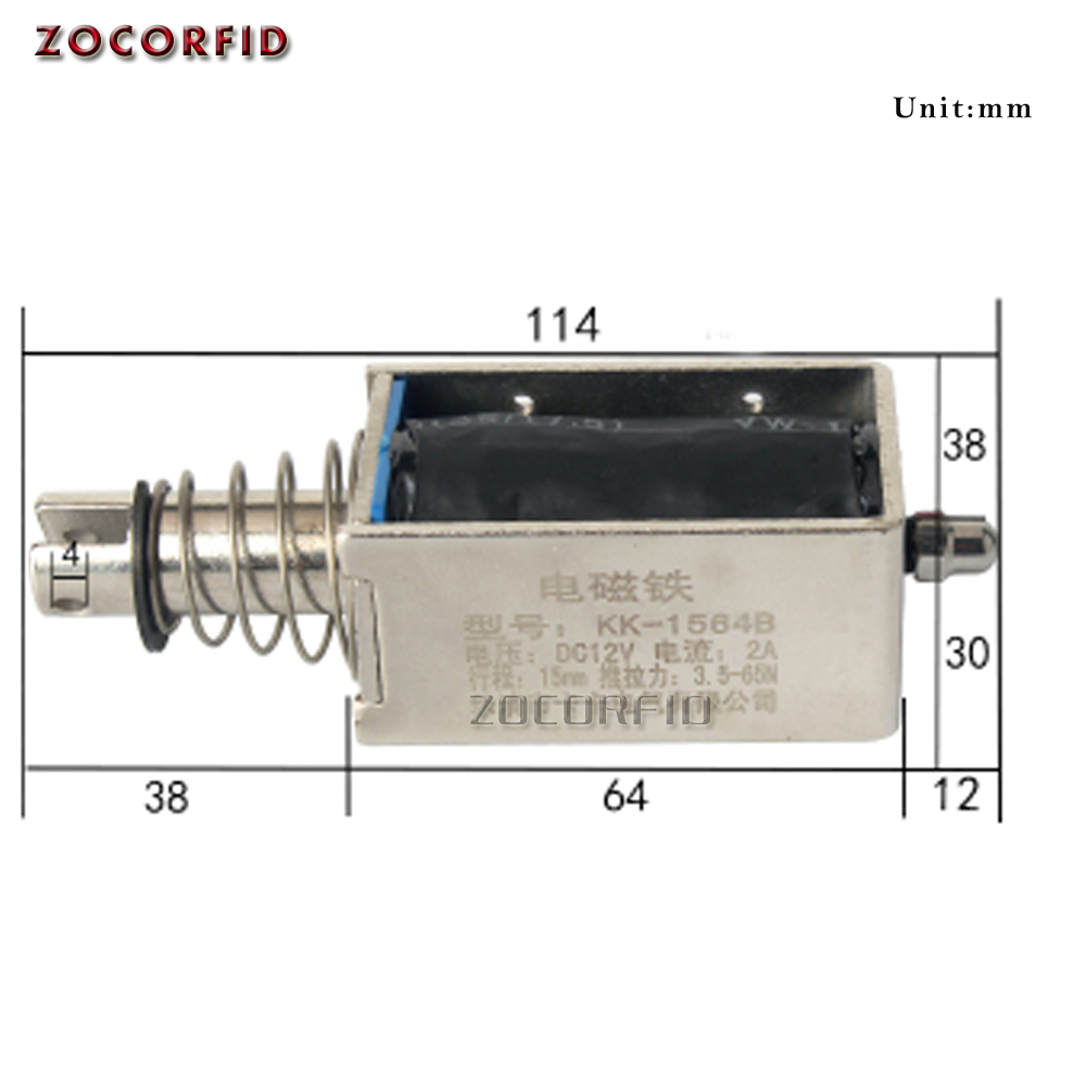 24V DC Push-Pull Open Frame Type Mini DC Solenoid valve Actuator Electromagnet
