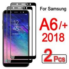 A6plus Защитное стекло для samsung a6 plus Sansung Galaxy a 6+ 6a Защитная пленка для экрана Armor cam gaxaly Закаленное стекло пленка