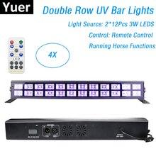 24 נוריות UV צבע LED שלב לשטוף אפקט אורות 90 240V מושלם עבור DJ דיסקו מנורת בית המפלגה לייזר קישוטי UV Led בר אורות
