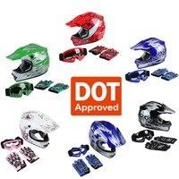 DOT Kids Youth Child Kids Helmet Offroad Dirt Bike ATV Girls Boys Safety Sports Cycling Helmets casco moto gifts Cycling kask 1