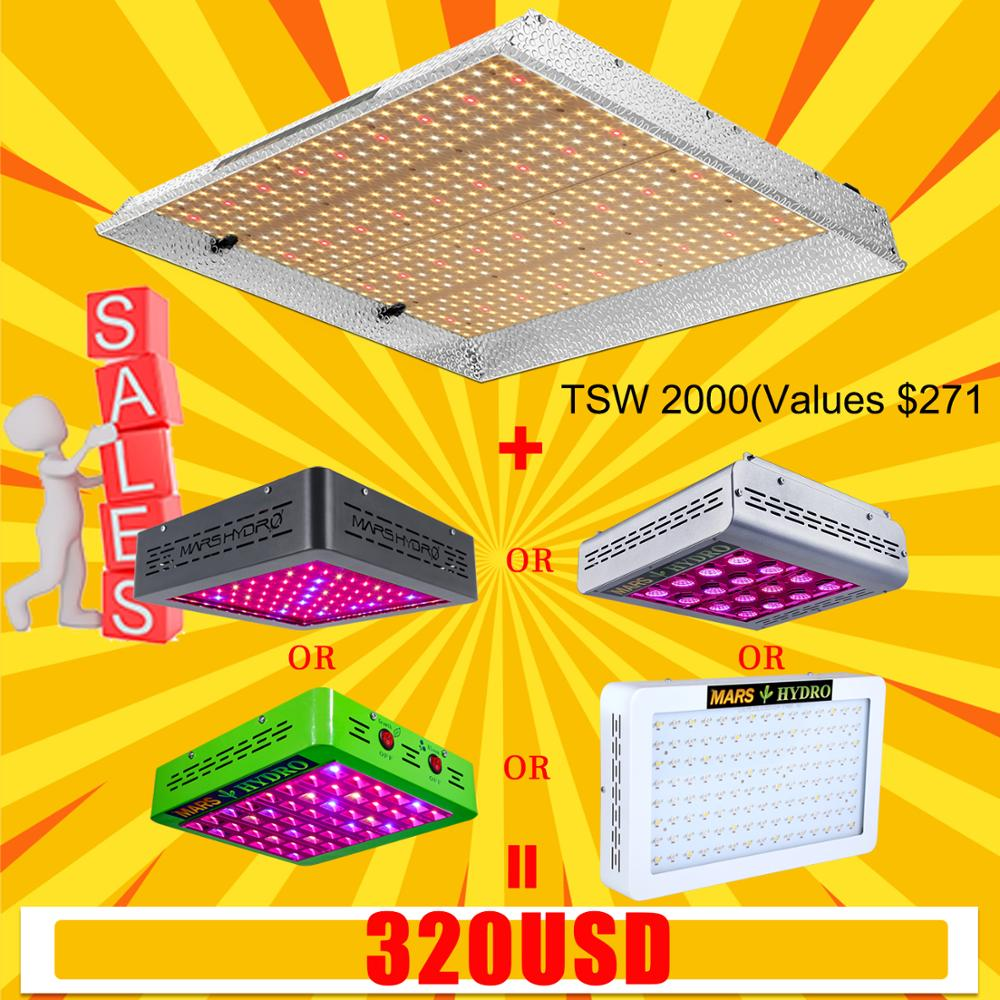 Sale! Mars Hydro TSW 2000W Combo With LED Grow Light Full Spectrum Best For Hydro Plant Veg Flower