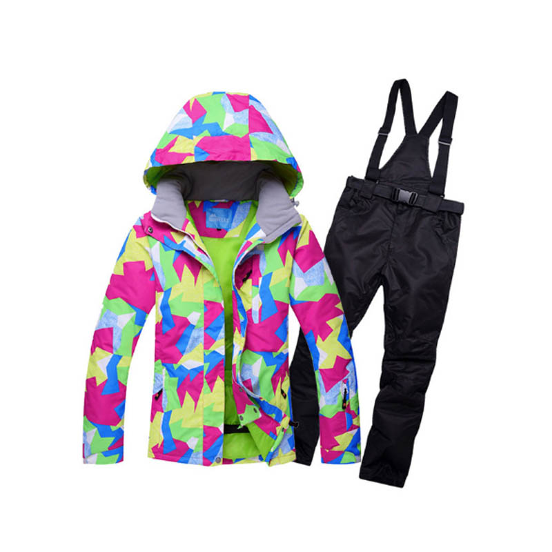 Winter Ski Suit Women Brands High Quality Ski Jacket and Pants for Women Warm Waterproof Windproof Skiing and Snowboarding Suits in Snowboarding Sets from Sports Entertainment